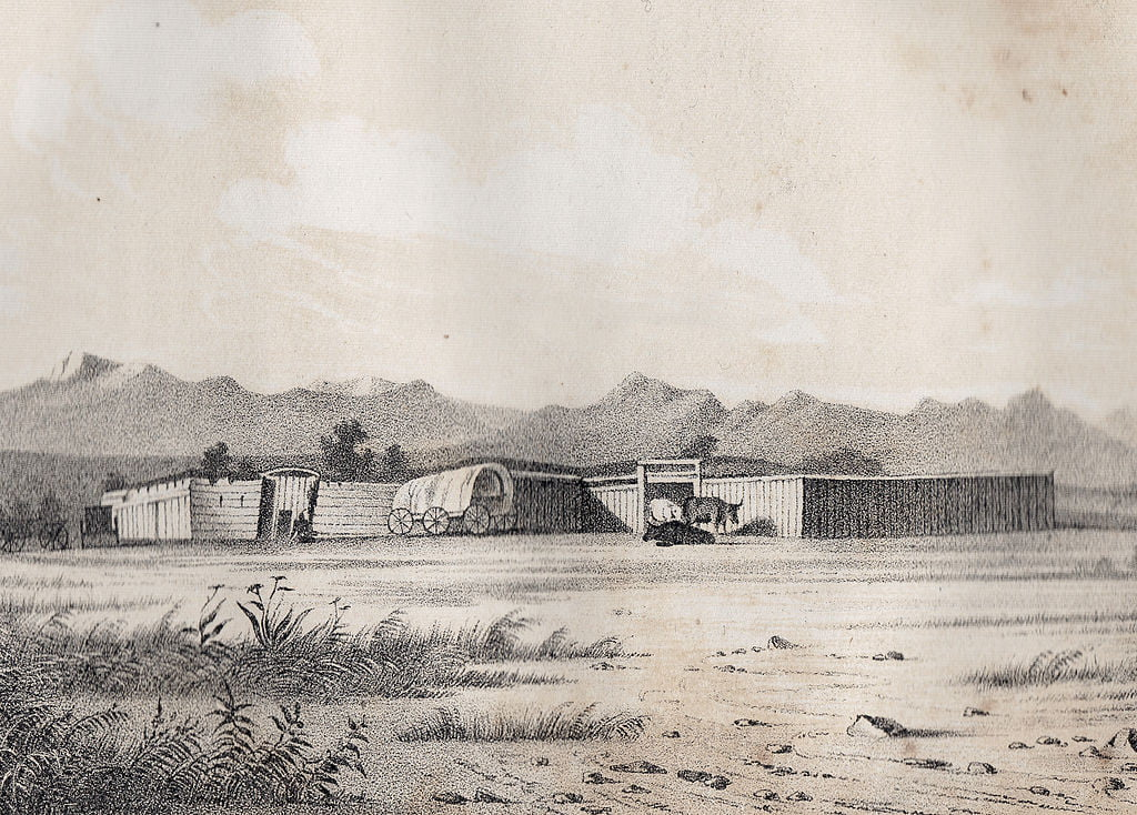 1850 Fort Bridger on the Green River