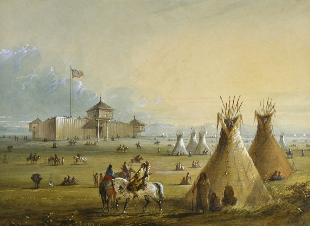 Alfred Jacob Miller - Fort Laramie - Walters