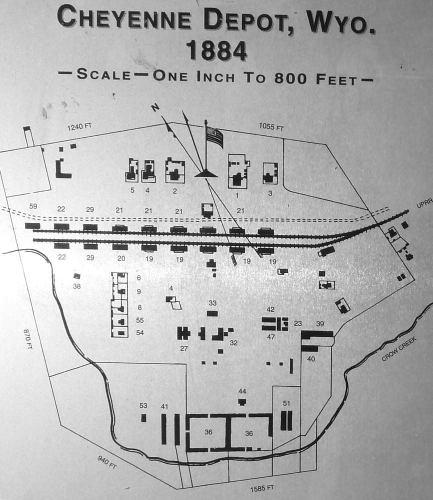 Camp Carlin - Cheyenne Depot, Wyoming 1884