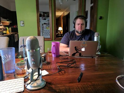 Podcasting Setup (Photo by Shawn Sines)