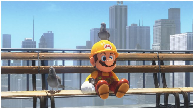 The birds are Mario's friends.