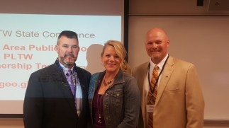 Coleman, Lori, and Todd at the MN PLTW Conference