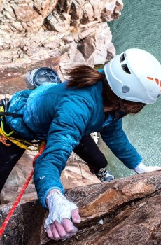 Wyoming Mountain Guides is offering the Casper area's first youth climbing camp! Students will climb at the 5150' Rock Gym and in Fremont Canyon. Photo of Wyoming Mountain Guides staff climbing at Fremont Canyon near Alcova Wyoming.