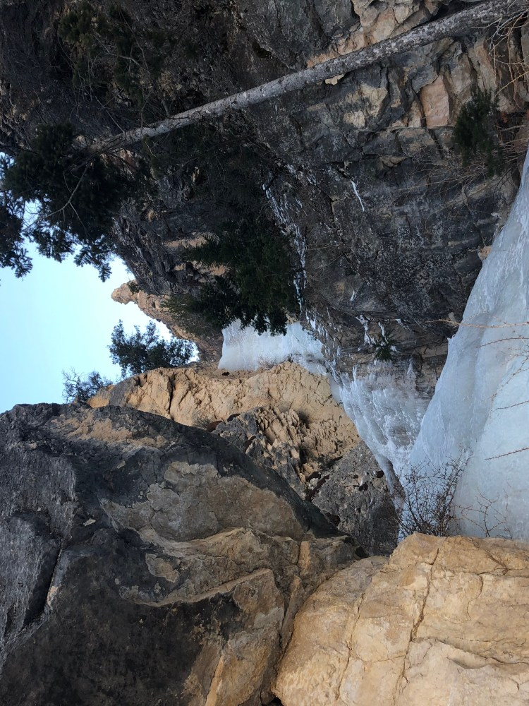 Ugly Sister WI3 is an enjoyable moderate ice climb located in the Post Creek Falls area in Shell Canyon