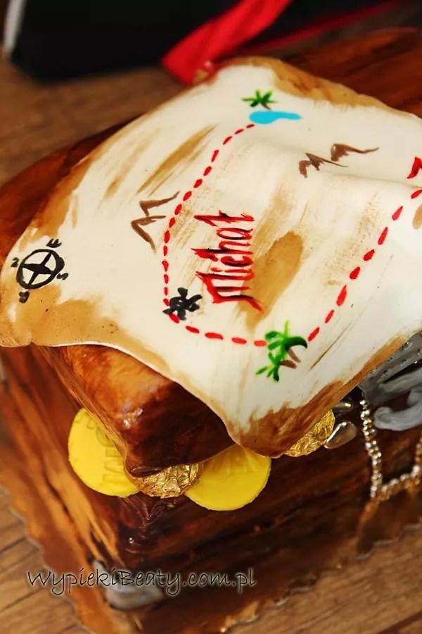 tort skrzynia skarbów mapa piracka