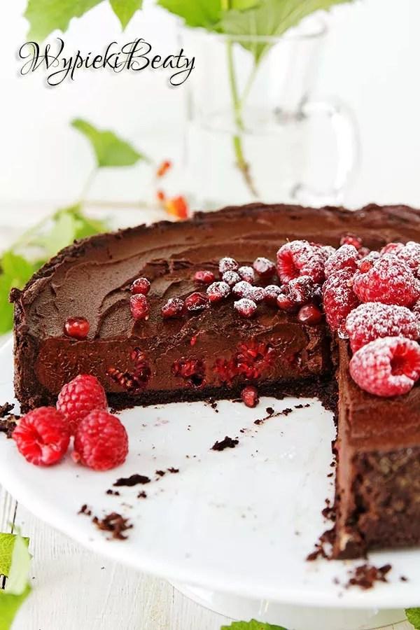tarta czekoladowa z malinami_11