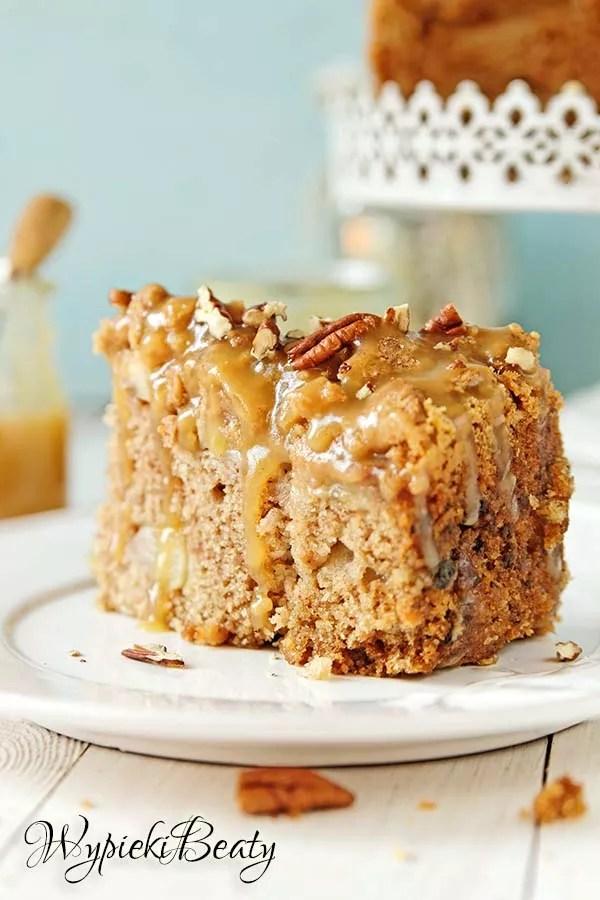 ciasto z jabłkami i toffee 5