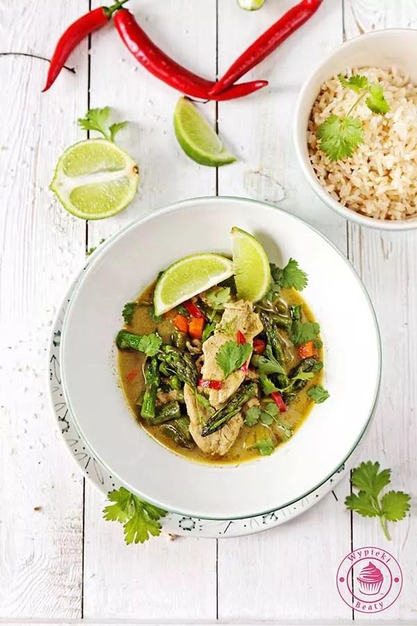 zielone curry ze szparagami 2