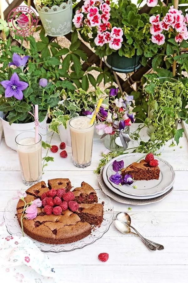 czekoladowe ciasto z malinami 4