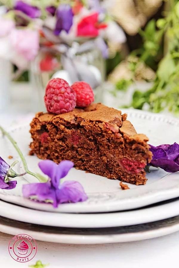 czekoladowe ciasto z malinami 5
