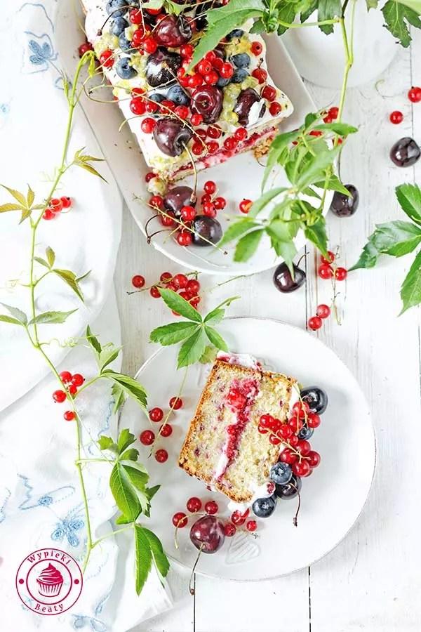 ciasto z malinami i kremem 11