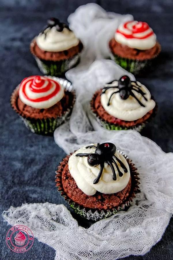 babeczki z pająkiem