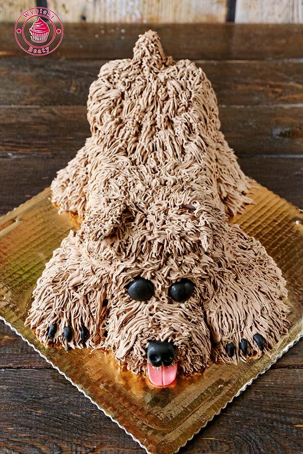 tort w kształcie pieska