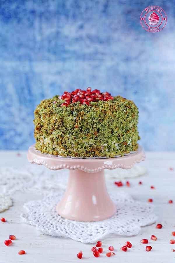 ciasto leśny mech ze szpinakiem