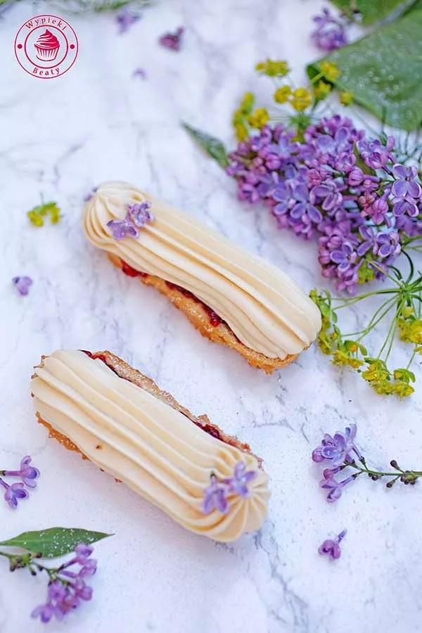 eklerki z białą czekoladą