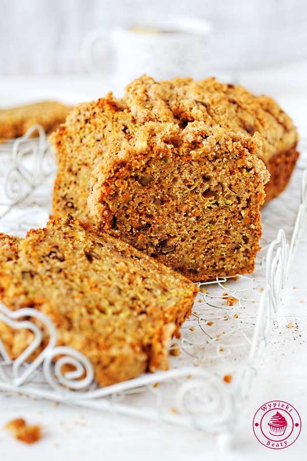 ciasto cukiniowo-marchewkowe