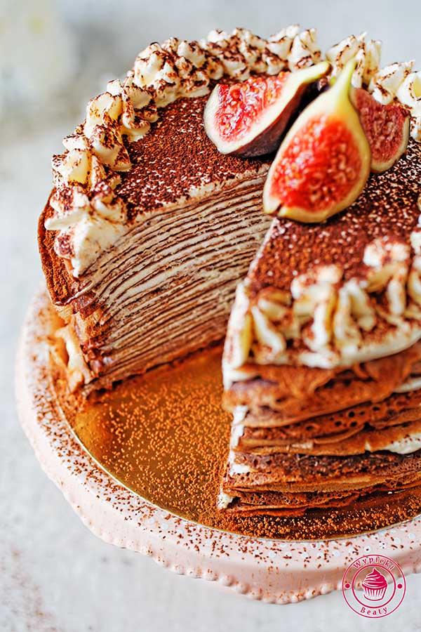 naleśnikowy tort tiramisu