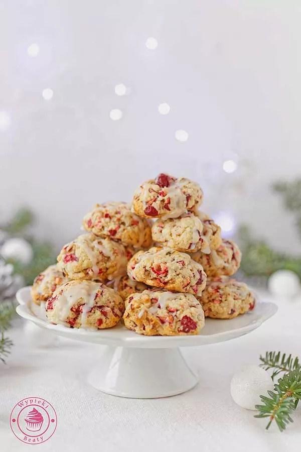 świąteczne ciasteczka z żurawiną