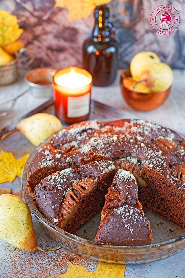 ciasto z gruszkami i migdałami