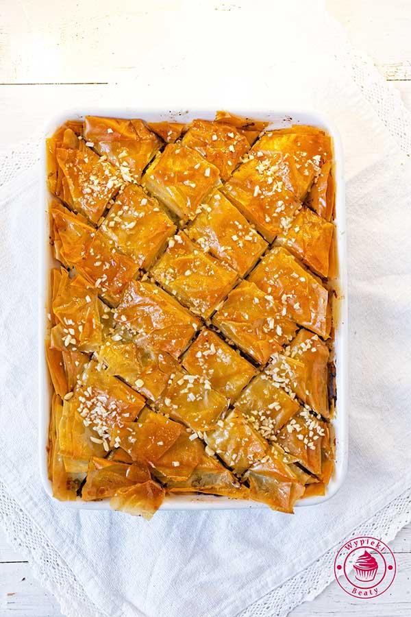 ciasto filo z masą makową