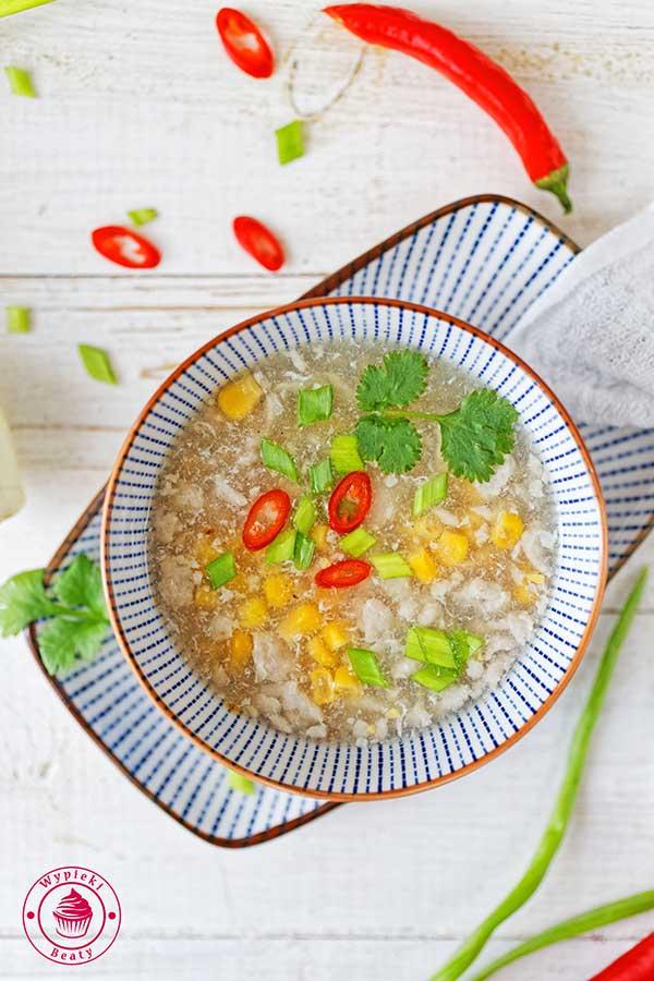 zupa kukurydziana z kurczakiem