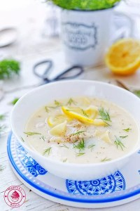 grecka zupa cytrynowa z jajkami