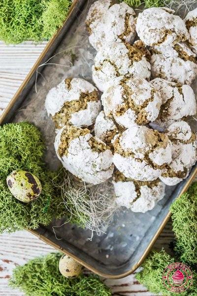 ciasteczka migdałowe z matcha
