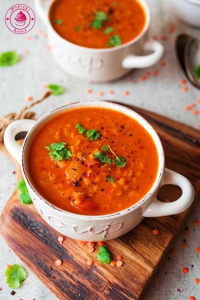 indyjska zupa z soczewicą i pomidorami