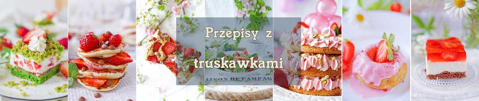 zdjęcia wypieków z truskawkami