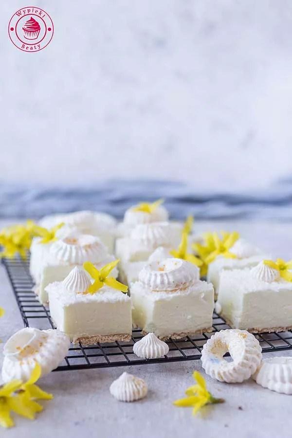 ciasto bez pieczenia cytrynowo-kokosowe