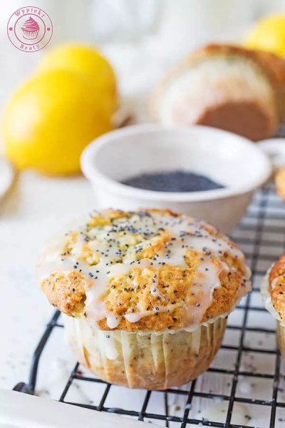 cytrynowe muffinki z lukrem