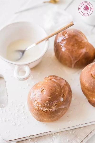 kokosowe ślimaczki drożdżowe