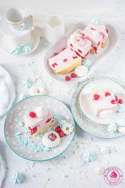 ciasto z malinami na zimno