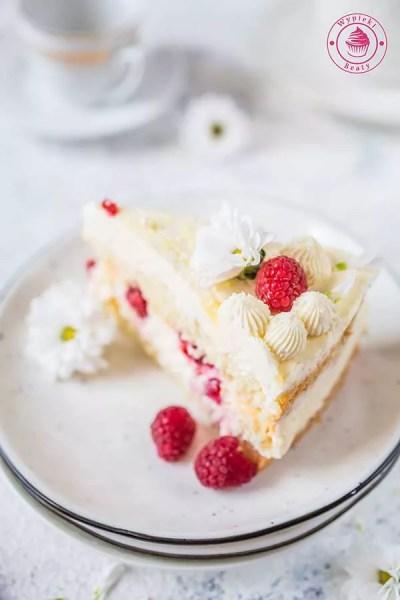 tort cytrynowo-malinowy