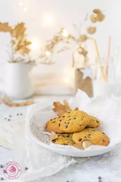 ciasteczka z dynią i czekoladą