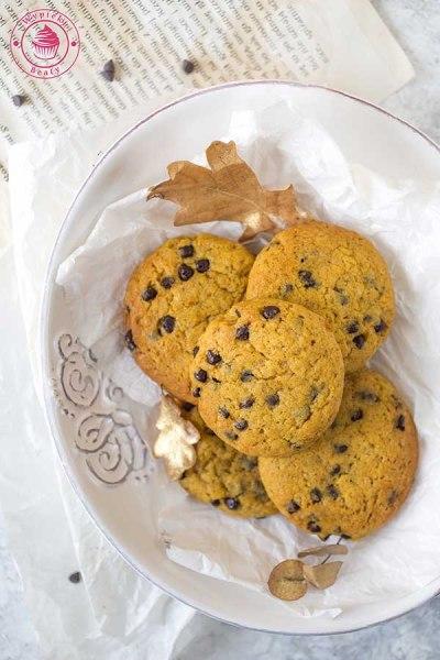 czekoladowe ciasteczka z dynią