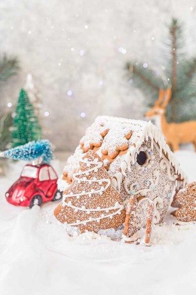 świąteczna chatka z piernika
