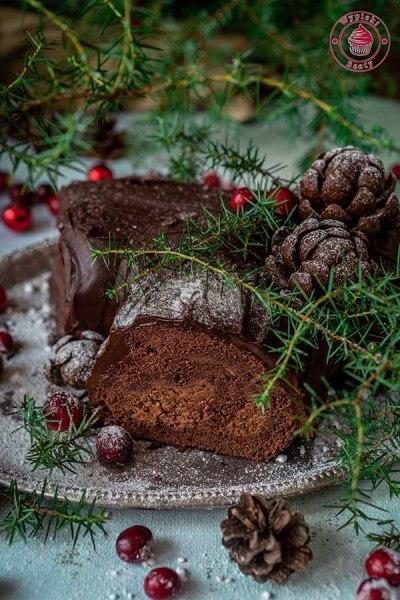 mocno czekoladowe ciasto na boże narodzenie