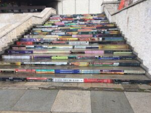 Book stairs at palace of culture in Sofia