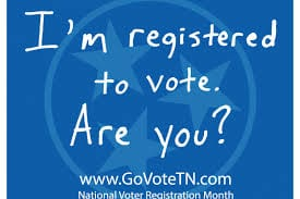Tuesday (today) is national Voter Registration Day