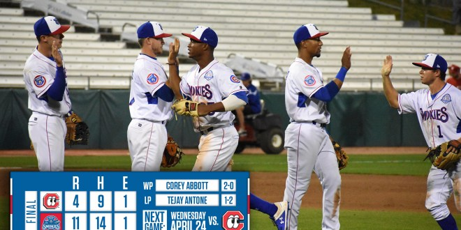 Smokies record season highs in runs, hits, knock off Lookouts 11-4