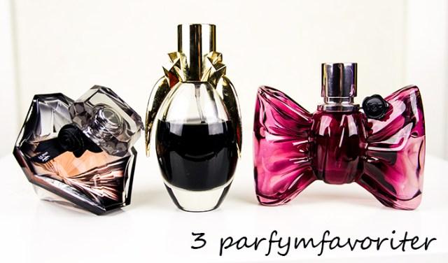 3 parfymfavoriter ♥