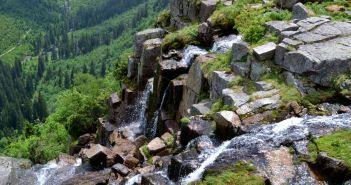 Pańczawskie kaskady w czeskich Karkonoszach. Największy wodospad w całych Sudetach!