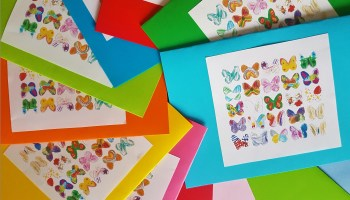 Cards with butterflies