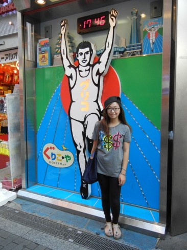 More Glico Man. Excuse my airplane travel ghetto-fabulousness