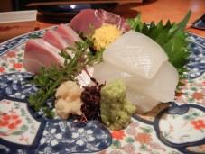Sashimi platter.