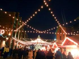 Street market view.