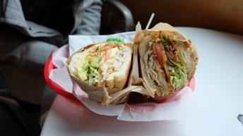 Breakfast sandwich at Ike's Place
