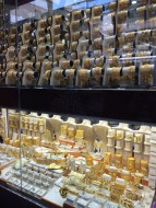 The display at the largest gold store/souk