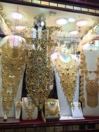 Crazy large gold jewellery